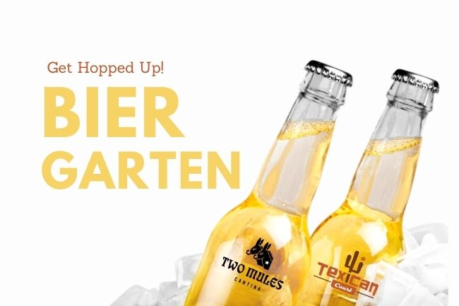 Enjoy the Biergarten at Two Mules Cantina!