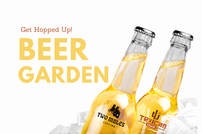 Enjoy the Beer Garden at Two Mules Cantina!