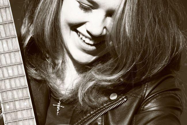 Julia Hatfield With Guitar