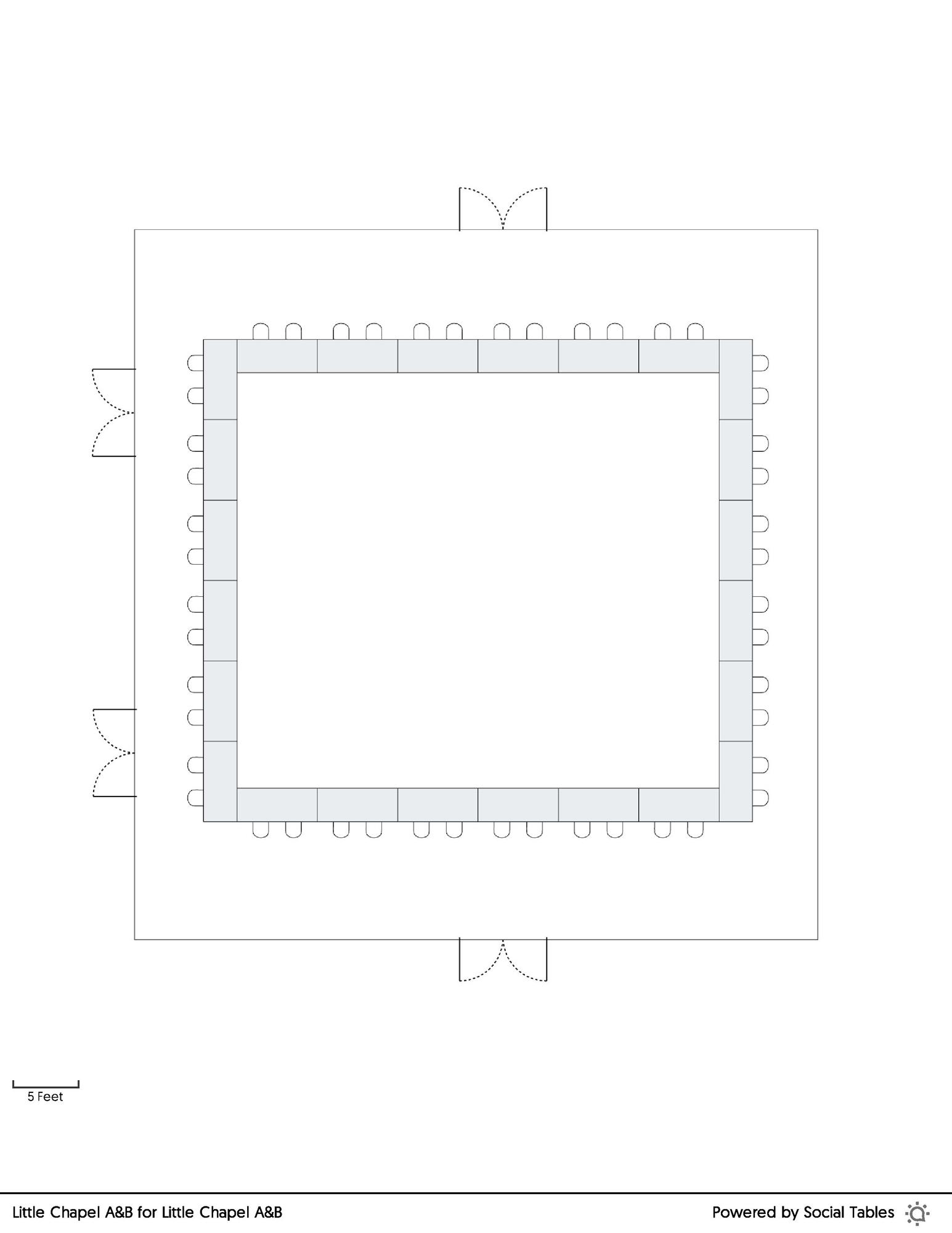 Little Chapel A&B Hollow Square floorplan
