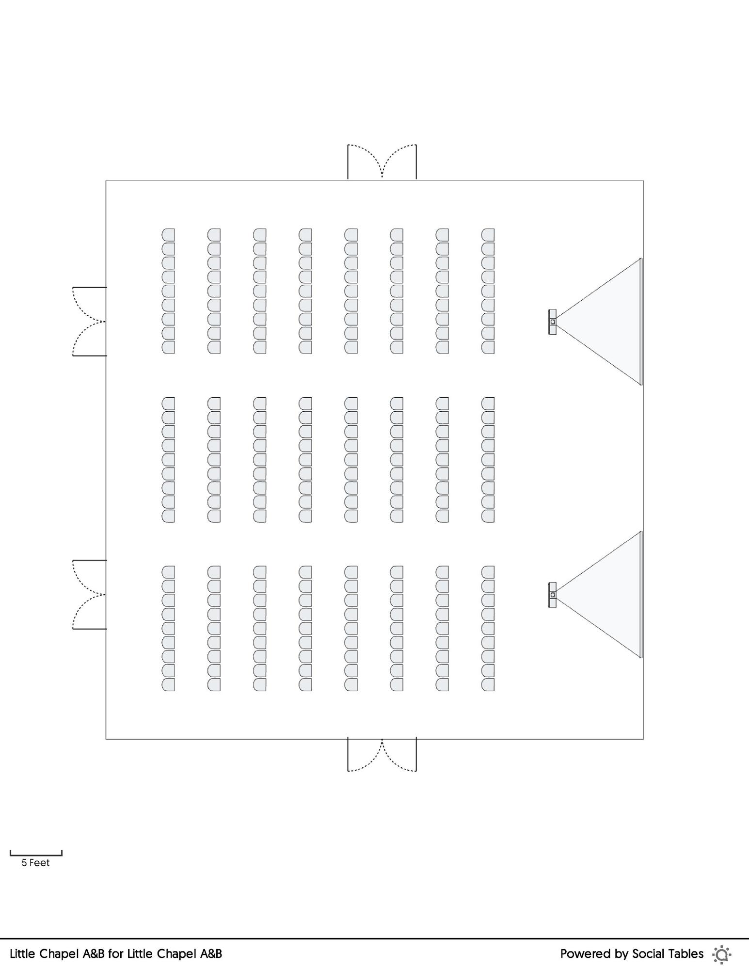 Little Chapel A&B Theatre floorplan
