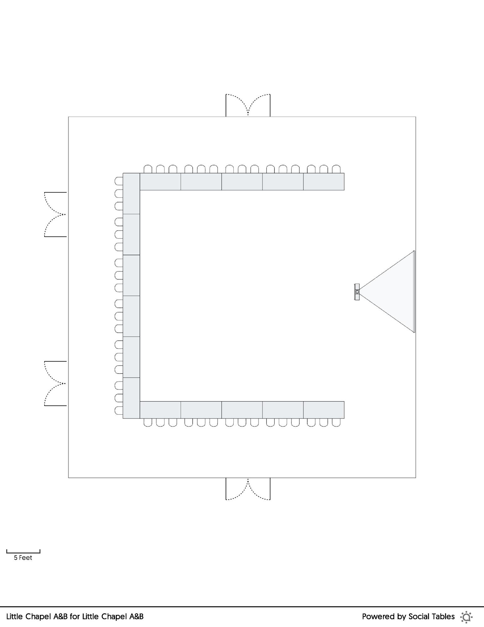 Little Chapel A&B U-Shape floorplan