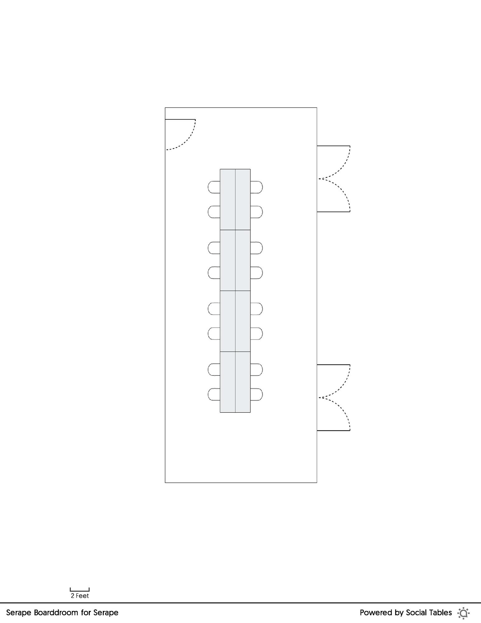Serape Boardroom floorplan